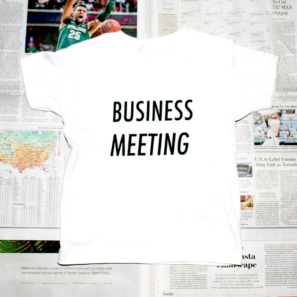 Business Meeting Kids Shirt