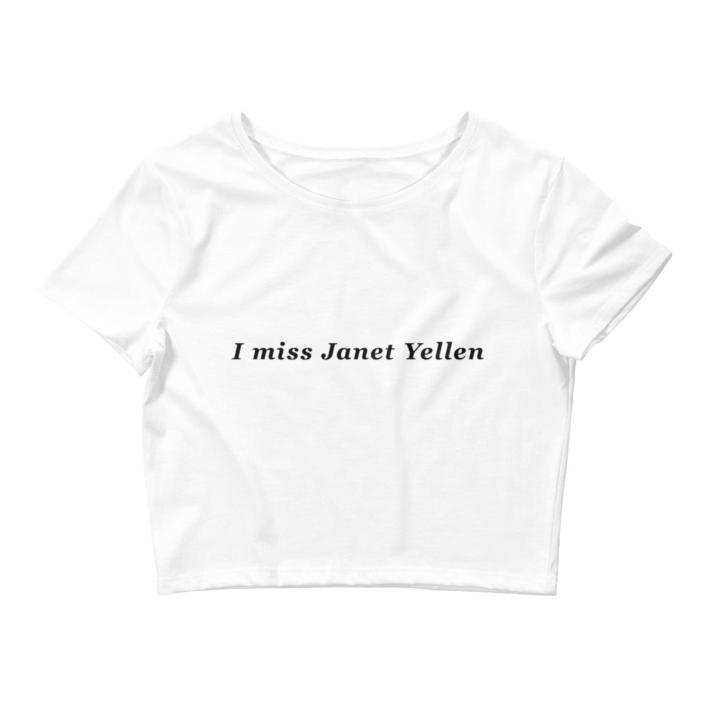 I Miss Janet Yellen Crop Top