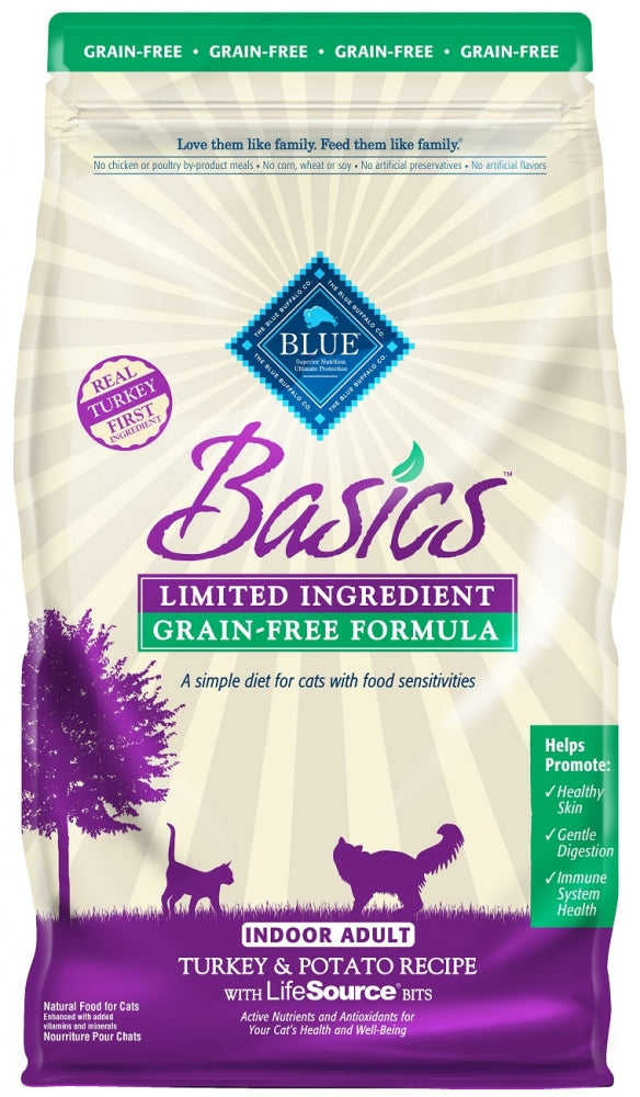 Blue Buffalo Basics Grain Free Adult Indoor Turkey and Potato Recipe Dry Cat Food