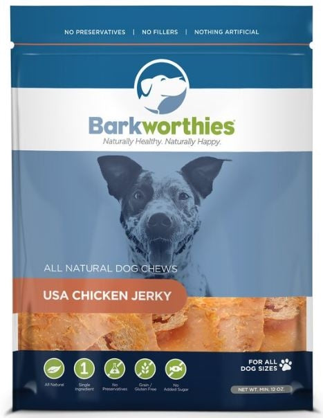 Barkworthies USA Chicken Jerky Dog Treats