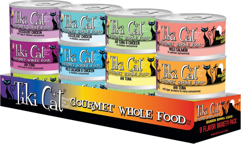Tiki Cat Queen Emma Luau Variety Pack Canned Cat Food