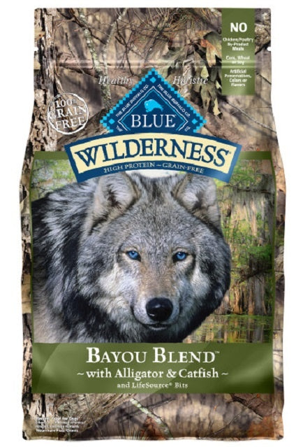 Blue Buffalo Wilderness Grain Free Bayou Blend with Alligator and Catfish Dry Dog Food