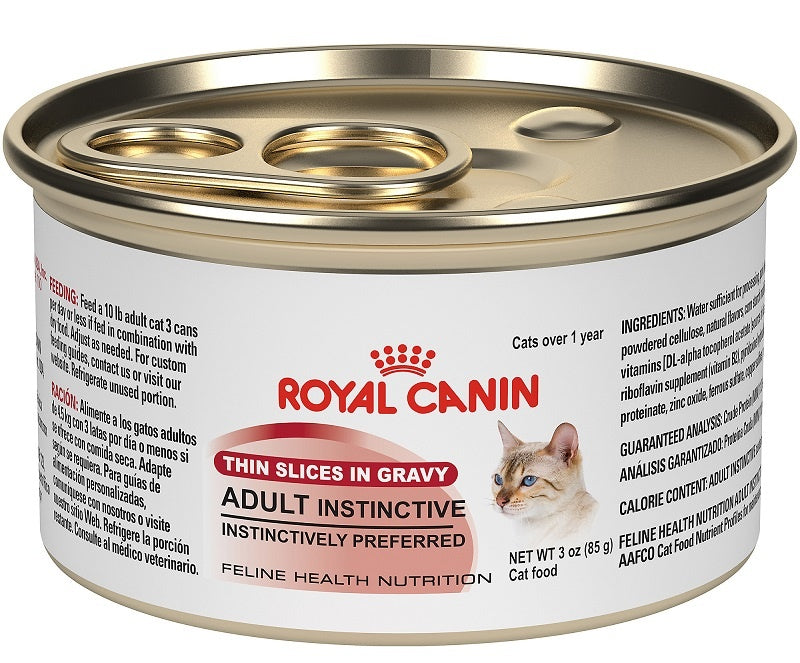 Royal Canin Feline Health Nutrition Adult Instinctive Thin Slices in Gravy Canned Cat Food