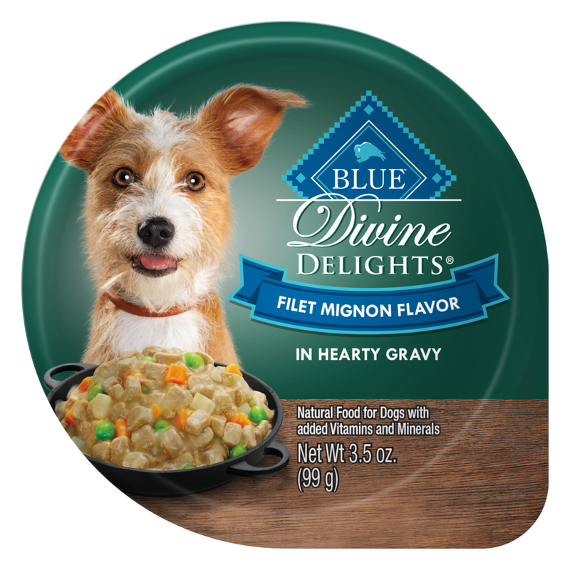 Blue Buffalo Divine Delights Small Breed Filet Mignon in Gravy Dog  Food Cup