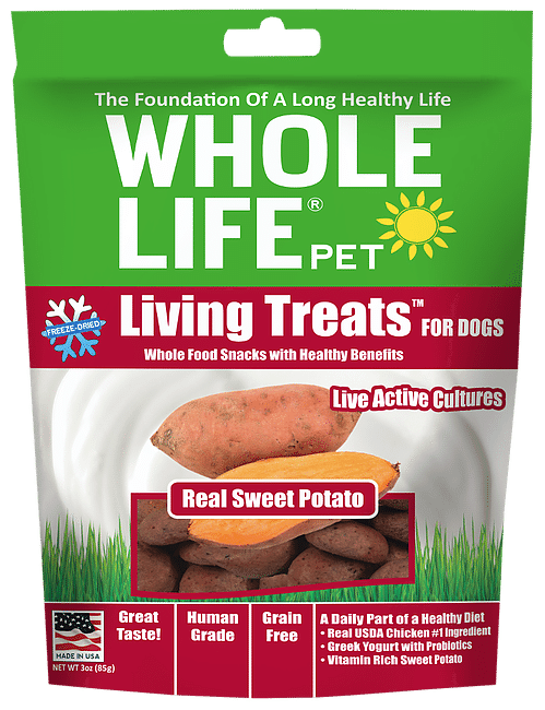 Whole Life Living Treats Grain Free Real Sweet Potato Blend Freeze Dried Dog Treats