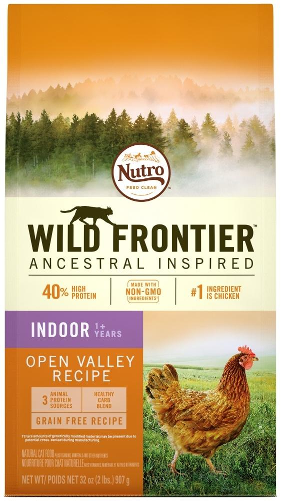 Nutro Wild Frontier Grain Free Adult Indoor Recipe Open Valley Chicken Flavor Dry Cat Food