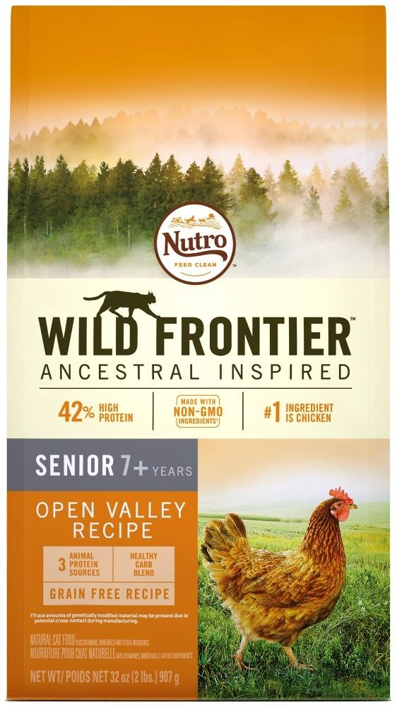 Nutro Wild Frontier Grain Free Senior Open Valley Recipe Chicken Dry Cat Food