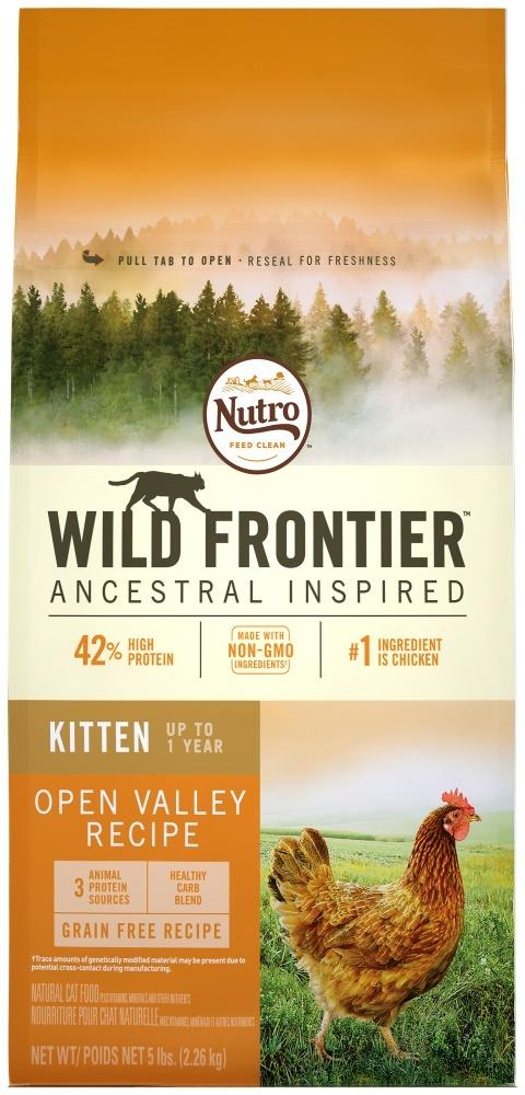 Nutro Wild Frontier Grain Free Kitten Open Valley Recipe Chicken Dry Cat Food