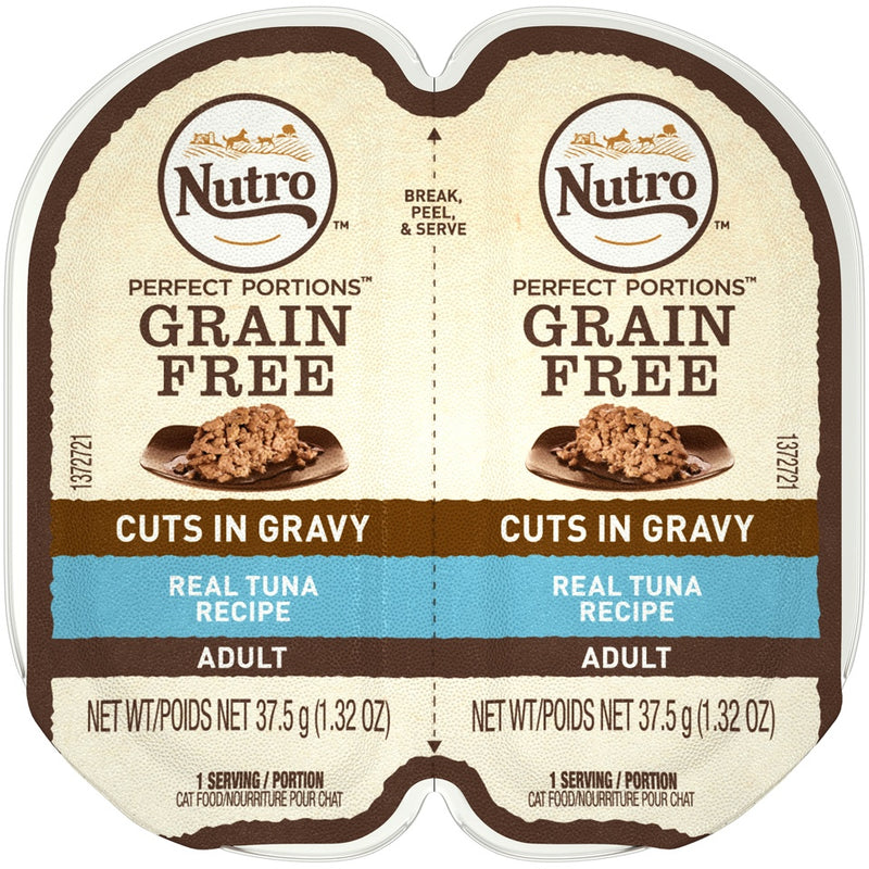 Nutro Perfect Portions Grain Free Cuts In Gravy Real Tuna Recipe Wet Cat Food Trays