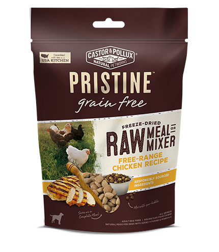 Castor and Pollux Pristine Grain-Free Free-Range Chicken Recipe Freeze Dried Raw Meal or Mixer