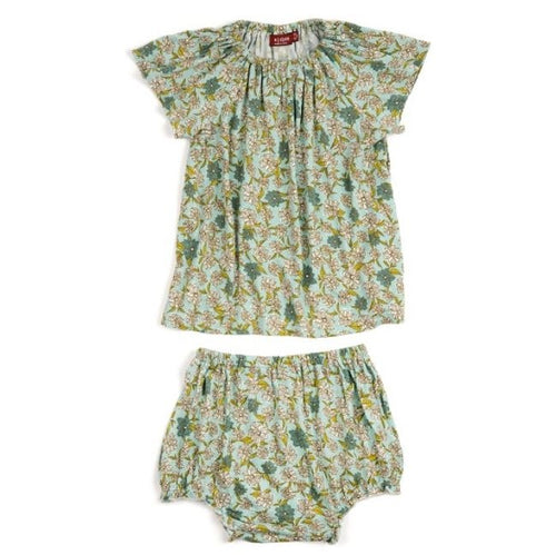 Bamboo Dress & Bloomers - Blue Floral