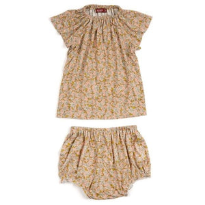 Bamboo Dress & Bloomer - Rose Floral