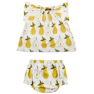 Organic Dress & Bloomers - Pear