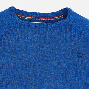 Basic Knit Sweater 323 Fjord