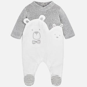 Polar Bear Velour Romper 2722