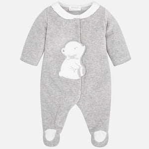 Girl Velour Polar Bear Romper 2752