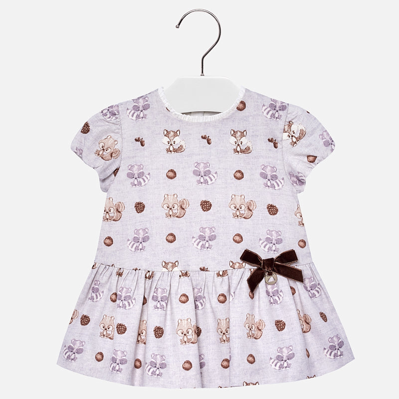 Raccoon & Fox Print Dress 2944