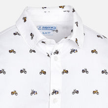 Motorcycle pattern shirt
