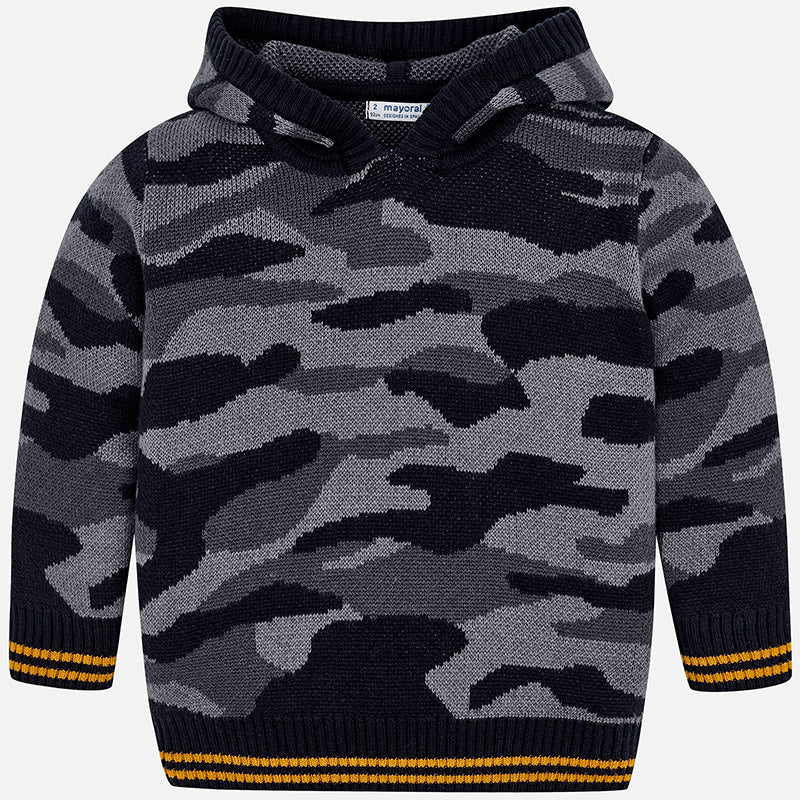 Camouflage hooded sweater 4310
