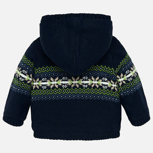 Fleece Lined Hooded Sweater 2332 Prussia
