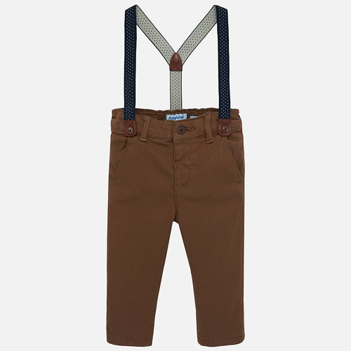 Suspender Lined Chino 2532 Brown