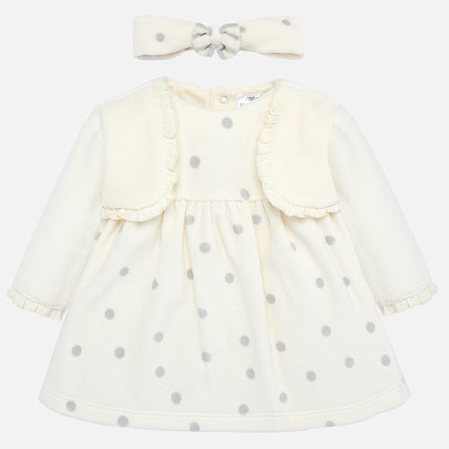 Velour Polka Dot Dress  2801