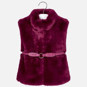 Faux Fur Vest 4307 Ruby