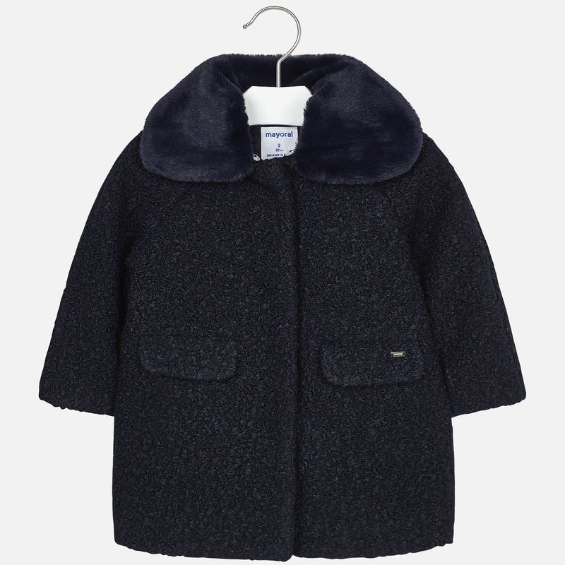 Faux Wool Coat 4413 Navy