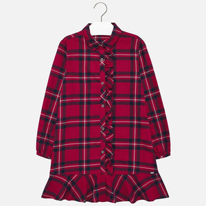Flannel Plaid Dress 7936 Red