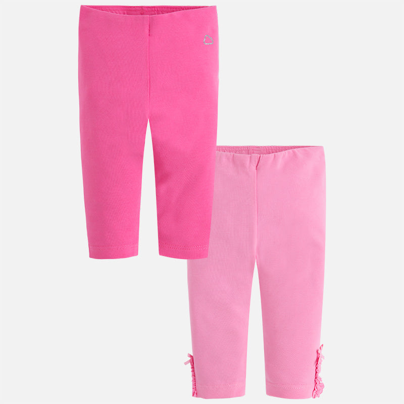 Set of two leggings Fuchsia 729