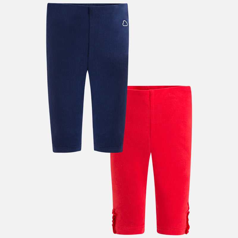 Set of two leggings Navy/Red 729