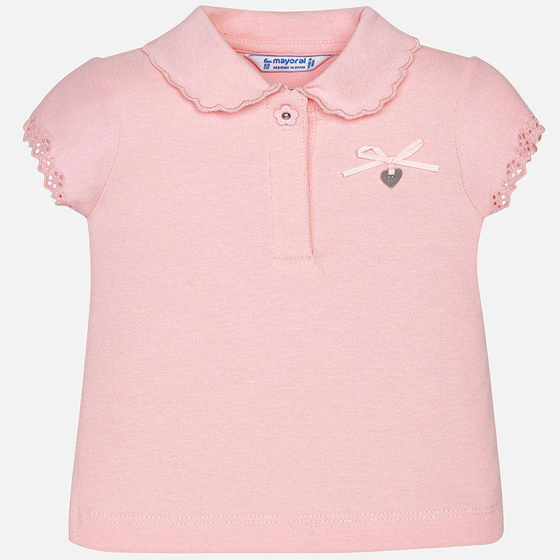 Girls Polo Pink 1120