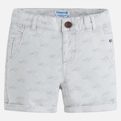 Shark Printed Shorts 3266