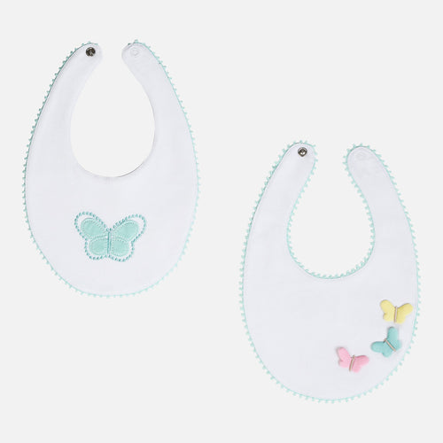 Set of two butterfly bibs 9672