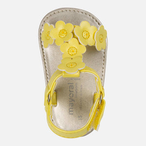 Baby Leatherette Sandals Yellow 9813