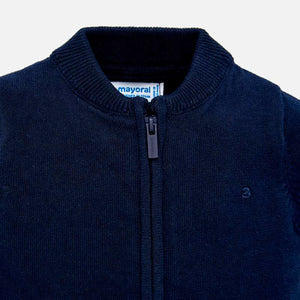 Zip-up Sweater 305 Navy
