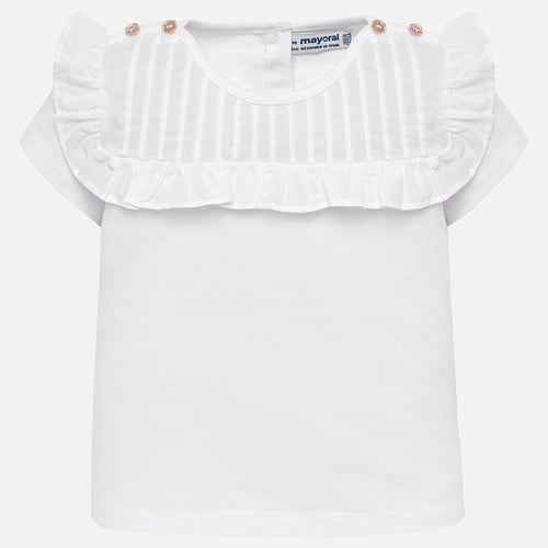 Pleated T-Shirt 1013 White