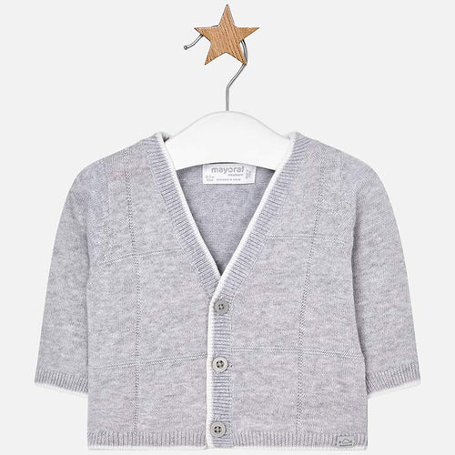 Cardigan for Baby Boy 1306 Grey
