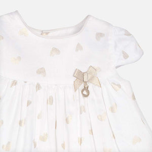 Gold Hearts Dress with Knickers 1804