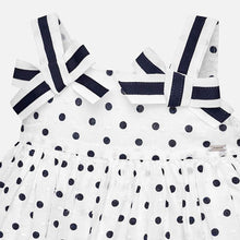 Polka Dot Dress 1938 Navy