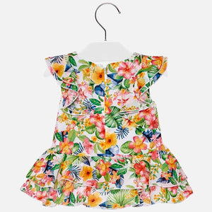 Tropical Print Dress 1940
