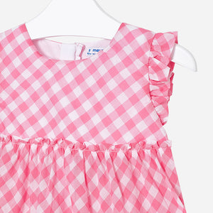 Sleeveless Gingham Blouse 3109