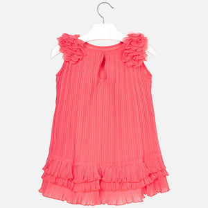 Pleated Dress with Ruffles 3926