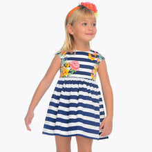 Tropical Striped Dress 3942