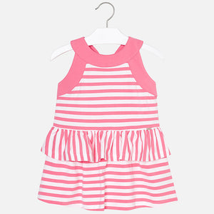 Striped Ruffle Dress 3954