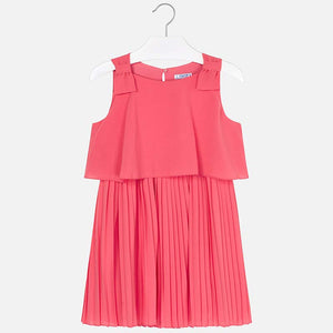 Pleated Chiffon Dress 6930