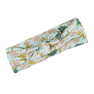 Bamboo Headband - Blue Floral