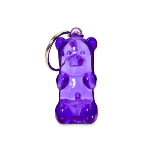 Light-up Gummy bear Keychain - Purple
