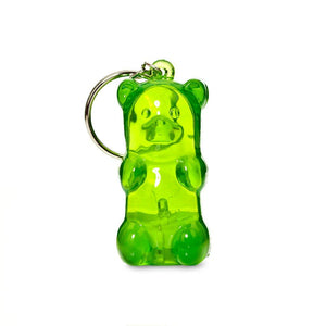 Light-Up Gummy Bear Keychain - Green