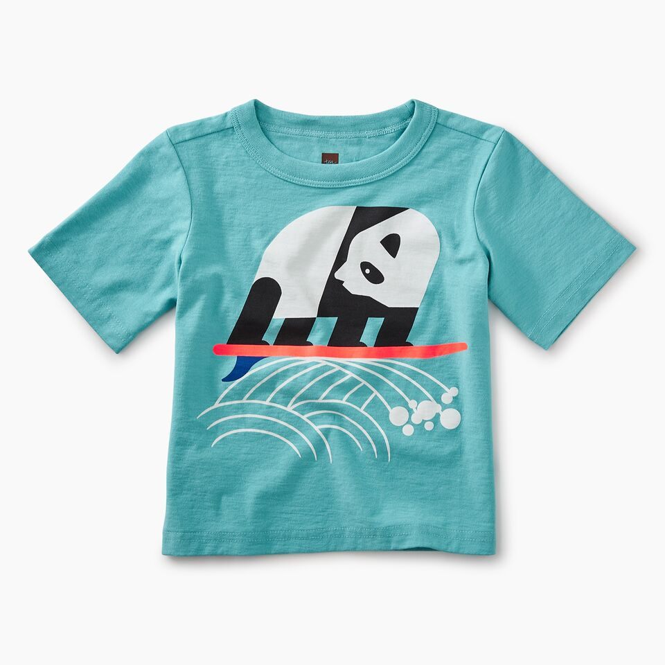 Surfing Panda Graphic Baby Tee